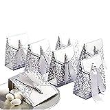 JZK 50 Plata favores cajas regalo bombones para boda baby shower cumpleaños bautizo graduación Navidad comunión partido