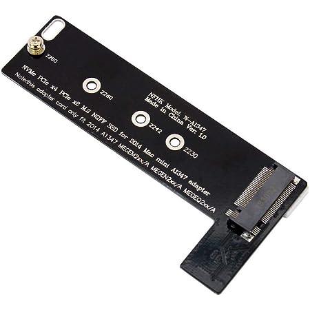 M.2 NGFF NVMe PCIe x4 SSD → late 2014 版 Mac mini A1347 SSD 増設キット 変換 アダプター
