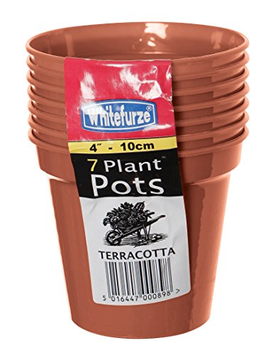 Whitefurze Garten-Blumentopf, plastik, terracotta, 10cm Garden Pot (Set of 7)