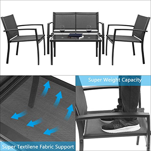 Devoko 4 Pieces Patio Furniture Set