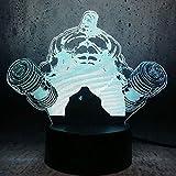 Héroe Gigante Con Mancuerna Luz De La Noche Del 3D Led Lámpara De Escritorio Del Dormitorio Del Hogar Decoración De La Oficina Para Los Niños Regalo De Cumpleaños ANHHWW