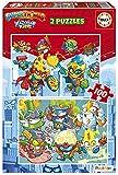 Educa Superthings. Set de Dos Puzzles Infantiles de 100 Piezas. A Partir de 6 años. 19205, Multicolor