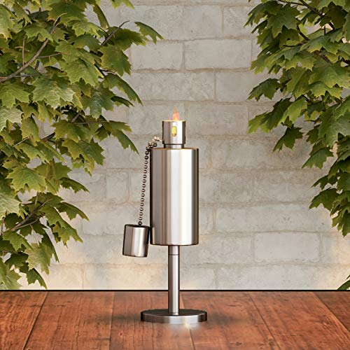 "Best Deals! Pure Garden 50-221 Tabletop Torch Lamp-10.5"" Stainless Steel Outdoor Fuel Canister Fla..."