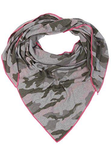 Zwillingsherz Dreieckstuch mit Kaschmir - Hochwertiger Schal im Camouflage Design für Damen Jungen und Mädchen - XXL Hals-Tuch und Damenschal - Strick-Waren für Frühjahr Sommer Herbst und Winter