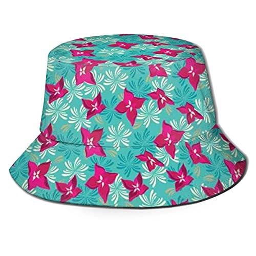 Eimer Hüte Lebendiges Blumenfeld Blühende Frühlingssaison Gänseblümchen Valentinstag Gartenmuster Atmungsaktive Fischerhüte für UV-Schutz