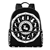 Anime & Chinese Zodiac White Fruits Basket Classic Student School Bag School Cycling Leisure Travel Camping Outdoor Backpack