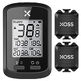 XOSS G+ GPS Bike Computer ANT+ with 2 Smart Cadence Sensor, Bluetooth Cycling Computer, Wireless...