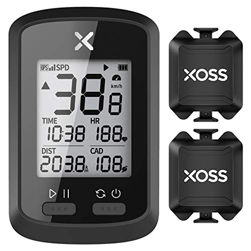 XOSS G+サイクリングコンピュータ、GPSワイヤレスサイクルコンピュータサイクリングスピードとケイデンスセ...