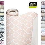 Smart Design Shelf Liner w/Bonded Grip - Wipes Clean - Cutable Material - Non Slip Design - for...