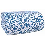 Cotton Blanket Matelassé Floral Design Thermal Blanket, Perfect for Layering Any Bed All-Season Bed/Throw Blanket - King (90 x 108 inches), Peacock Blue