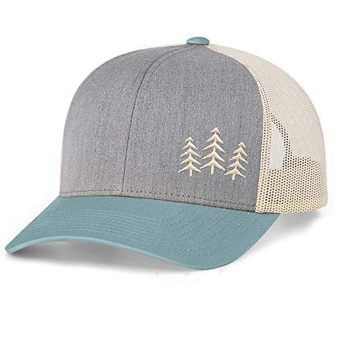 Low Key Caps | Trucker Snapback Baseball Hat - Tree