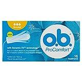 o.b. - Tampones ProComfort de fácil inserción y protección fiable, 16 unidades