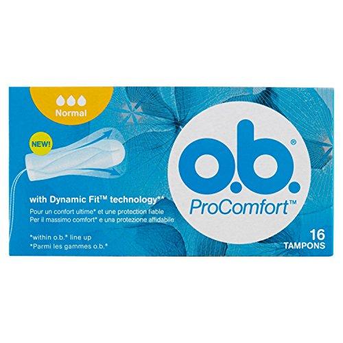 o.b. ProComfort pads met eenvoudig inbrengen en betrouwbare bescherming, 16 stuks