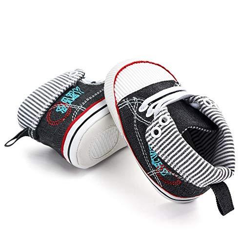 TeasyDay Segeltuch Schuhe Kinder, Kinder Sneaker, Babys Mädchen Jungs rutschfeste Lauflernschuhe mit weicher Sohle, Kleinkind Schule Schuhe