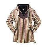 virblatt – Ethno Kapuzenjacke Winterjacke warme Jacke Baumwolle und Winterjacke für Damen Hippie Kleidung - Kathmandu L