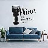wopiaol Fenster Vinyl Aufkleber Wein EIN bisschen fühlen