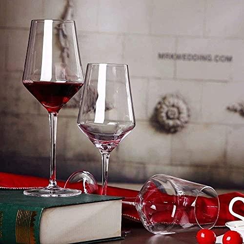 Copas de Vino de Cristal Hechas a Mano / 400ml Copas de Vino Borgoña Conjunto de Regalo Conjunto de Regalo Lavavajillas Safe 2z (Tamaño: Juego de 4) / Código de Productos básicos: LQQ-93