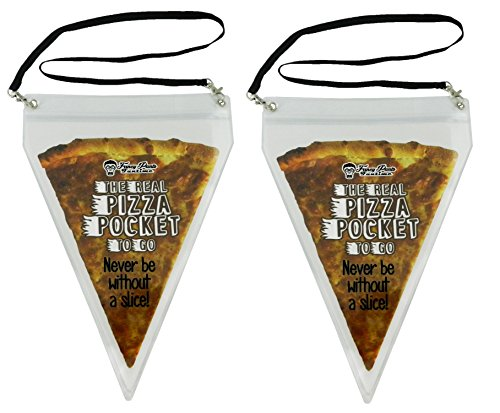 The Real Pizza Pocket to Go - Pizza Lover Gag Gift - Largest Pizza Necklace in The World (2)