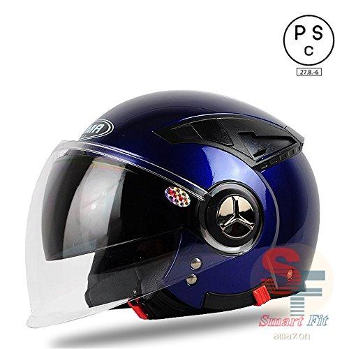 多色選択可能 バイク ヘルメット バイク用 高密度ABS ダブルシールド ジェット 3/4ヘルメット ハーレー サングラス付き PSC付き 春、夏、秋、冬 YEMA-620[商品02/L]