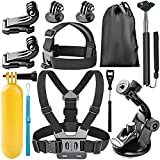 Neewer Action Camera Accessory Kit for GoPro Hero Session/5 Hero 4 5 6  DJI OSMO Action SJ4000 5000 6000 DBPOWER AKASO VicTsing APEMAN WiMiUS QUMOX Lightdow Campark And Sony Sports DV and More
