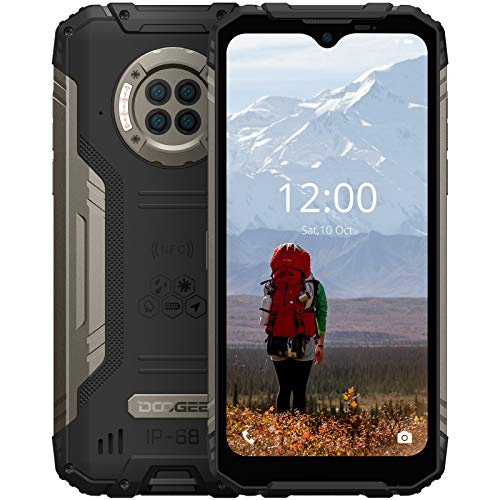 """Rugged Phone Unlocked DOOGEE S96 Pro 8GB+128GB Infrared Night Vision Helio G90 Octa Core Waterproof Android Phone, 48MP+20MP, 6.22"""" + Global 4G LTE GSM AT&T T-Mobile Dual SIM Phone 6350mAh(Black)"""