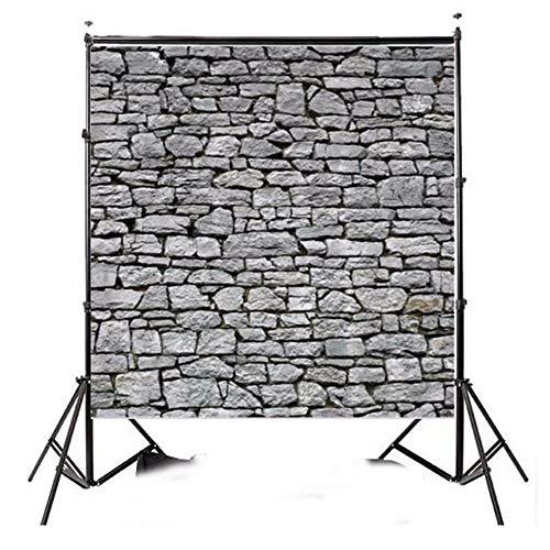 Liuxiaomiao Fondo de estudio de fondo gris claro para fotografía de pared de piedra para estudio de fotografía de vídeo, gris, 8x8ft