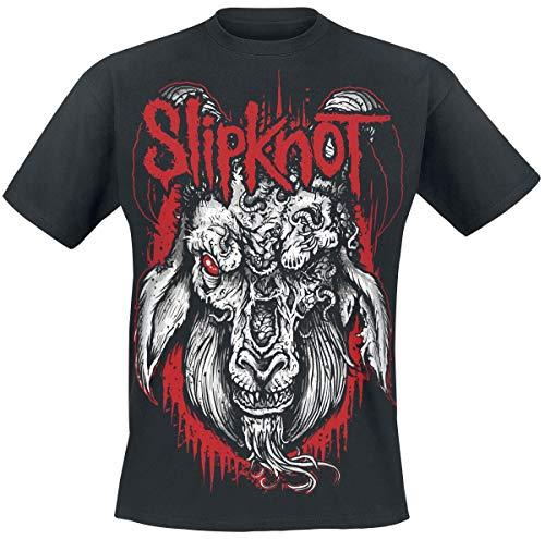 Slipknot Rotting Goat Männer T-Shirt schwarz L 100% Baumwolle Band-Merch, Bands