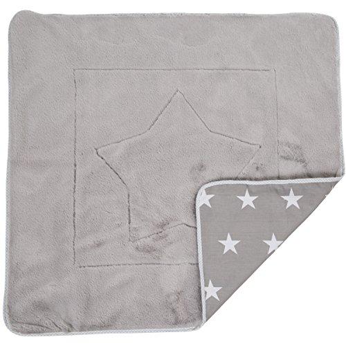 Kuscheldecke Little Stars moderner Sternendruck 80 cm • Babydecke Kinderdecke Schlafdecke Decke Sterne
