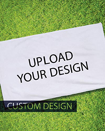 COLORCOMMALL Personalized Custom Golf Towel - 5 Pack 25x16 Inch Microfiber Sports Player Logo Team Rally Customized...
