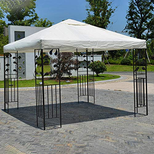 Chalkalon Pop Up Gazebo - Garden Outdoor Waterproof Pop Up Gazebo 3m X 3m, Heavy Duty Gazebo UV Resistant Pop Up Canopy Tent Sun Shade Tent For Yard, Garden, Street, Beach (only The top canvas)