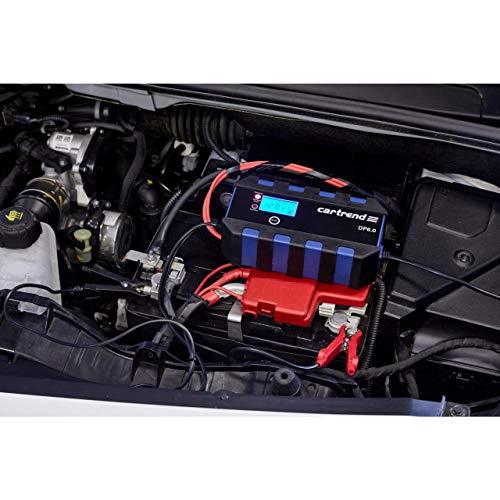 Cartrend 10621 Mikroprozessor-Batterieladegerät DP 6.0, 6 A, 6/12 V, 9-stufig,mit Autostart-Funktion nach Netzausfall und LCD-Display, 6A