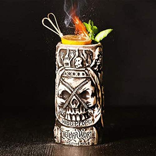 BAIYAN Decantador de Vino, Tiki Gafas para cócteles, Tiki Tazas Tiki Webware Ceramic Hawaiian-Lindo Cóctel exótico Gafas de cóctel Tiki Bar Profesional Hawaiian Party Barware (250ml) (Color : Jlbh)