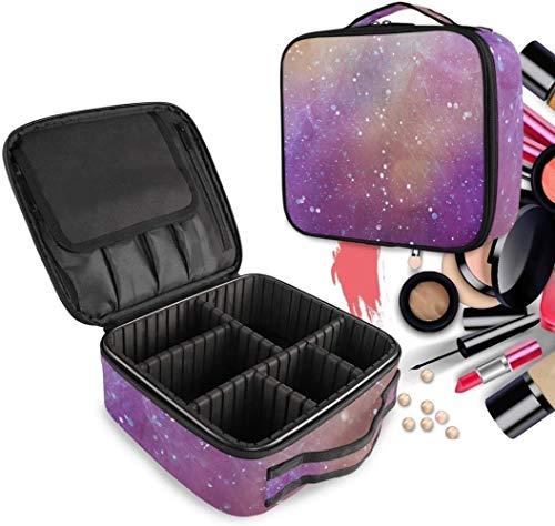 Cosmétique HZYDD Espace numérique Violet Make Up Sac Trousse de Toilette Zipper Sacs de Maquillage Organisateur Poche for Compartiment Femmes Filles Gratuit