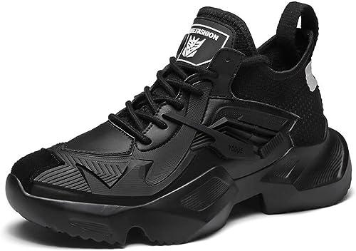 Hommes Baskets Maille Fond épais augmenté Chaussures de Course Avant Chaussures à Lacets Haut Chaussures décontractées Printemps Nouveau,B,42EU
