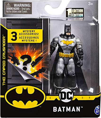BATMAN DC Chase Figure Gray Tactical Suit with Gold Emblem Rare - 1st Edition