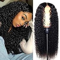 深い波の巻き毛のかつらのレースフロントかつら自然黒のブラジルの体波の長い人間の髪150%密度25-27インチ波状のウィッグ女性124-3黒 YQLWX (色 : 124-1black)