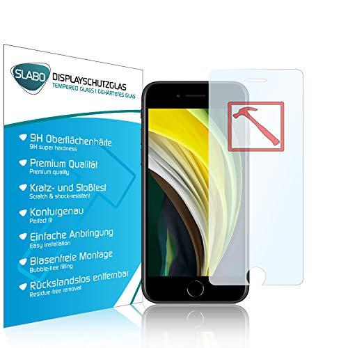 Slabo Premium Panzerglasfolie für iPhone SE 2020 | iPhone 8 | iPhone 7 | iPhone 6S | iPhone 6 Panzerfolie Schutzfolie Echtglas Folie Tempered Glass KLAR 9H Hartglas