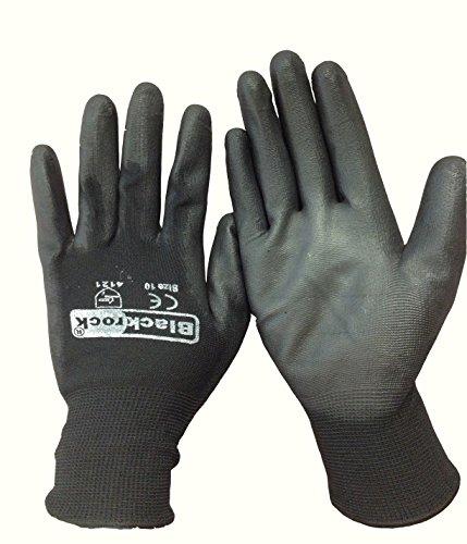 5 Paires de Blackrock Bottes hygiéniques imperméables avec semelle antidérapante, Taille 43/Large de gants de sécurité en PU Noir