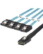 J&D Interno Mini SAS 36 Pin SFF-8087 a 4 SATA 7 Pin Cables - 50cm