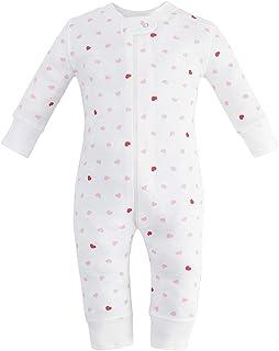 Owlivia Organic Cotton Baby Boy Girl Zip up Sleep N Play, Footless, Long Sleeve (Size 0-18 Month)