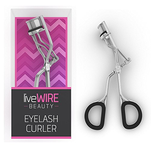Professional Eyelash Curler - Never Needs Refill Pads! - Doesn't Pinch Or Pull! - Best Curl For Fuller Eyelashes With Cute Pink Packaging