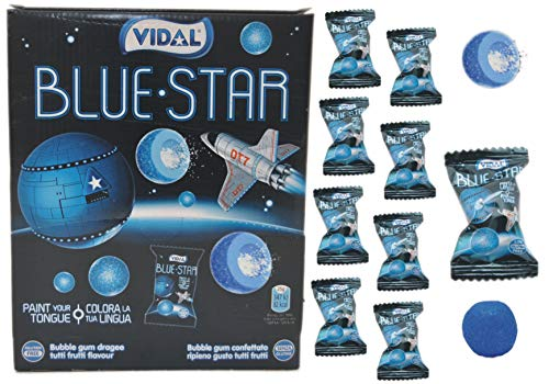 jameitop®🔵💦 Blue Star Zungenfärber KAUGUMMI 10er Set Pack Blaue Bälle mit saurer Brause Füllung💦🔵