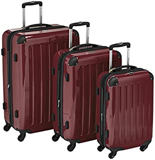 HAUPTSTADTKOFFER - Alex - Set of 3 Hard-side Luggages Trolley Suitces Expandable, (S, M & L), burgundy (B00XJJ7XBS) | Amazon price tracker / tracking, Amazon price history charts, Amazon price watches, Amazon price drop alerts