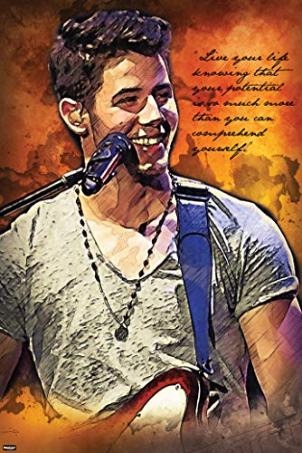 American Singer Actor Songwriter Art Print Poster Live Your Life Quote 24x36 inch