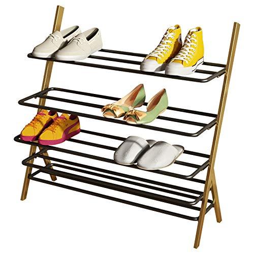 Mueble para Zapatos Zapatero De Metal Estantes MetáLicos Guardar hasta 25 Pares De Zapatos, para SalóN, Entrada, VestíBulo Y Guardarropa