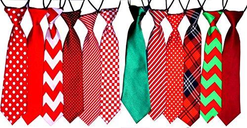 Yagopet Große Krawatten für Weihnachten, große Hunde, 56 cm, Fliege, für Weihnachten, Festival, Hundehalsband, Hundepflege-Zubehör