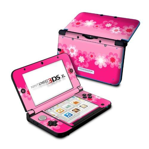 Retro Pink Flowers - DecalGirl Sticker Wrap Skin Compatible with Nintendo Original 3DS XL