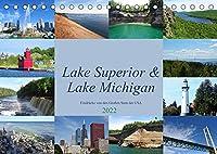 """Lake Superior & Lake Michigan (Tischkalender 2022 DIN A5 quer): Impressionen aus der Region der """"Great Lakes"""" (Monatskalender, 14 Seiten )"""