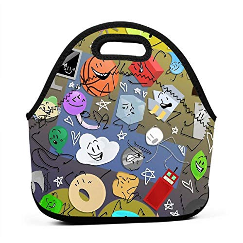 KILILY Battle For Bfdi Men Women Kids Insulated Lunch Bag Tote Reusable Lunch Box For Work Picnic School