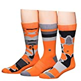Buffalo David Bitton Men's Crew Socks, Orange Camo, 10-13/6-12 (Pack of 3)